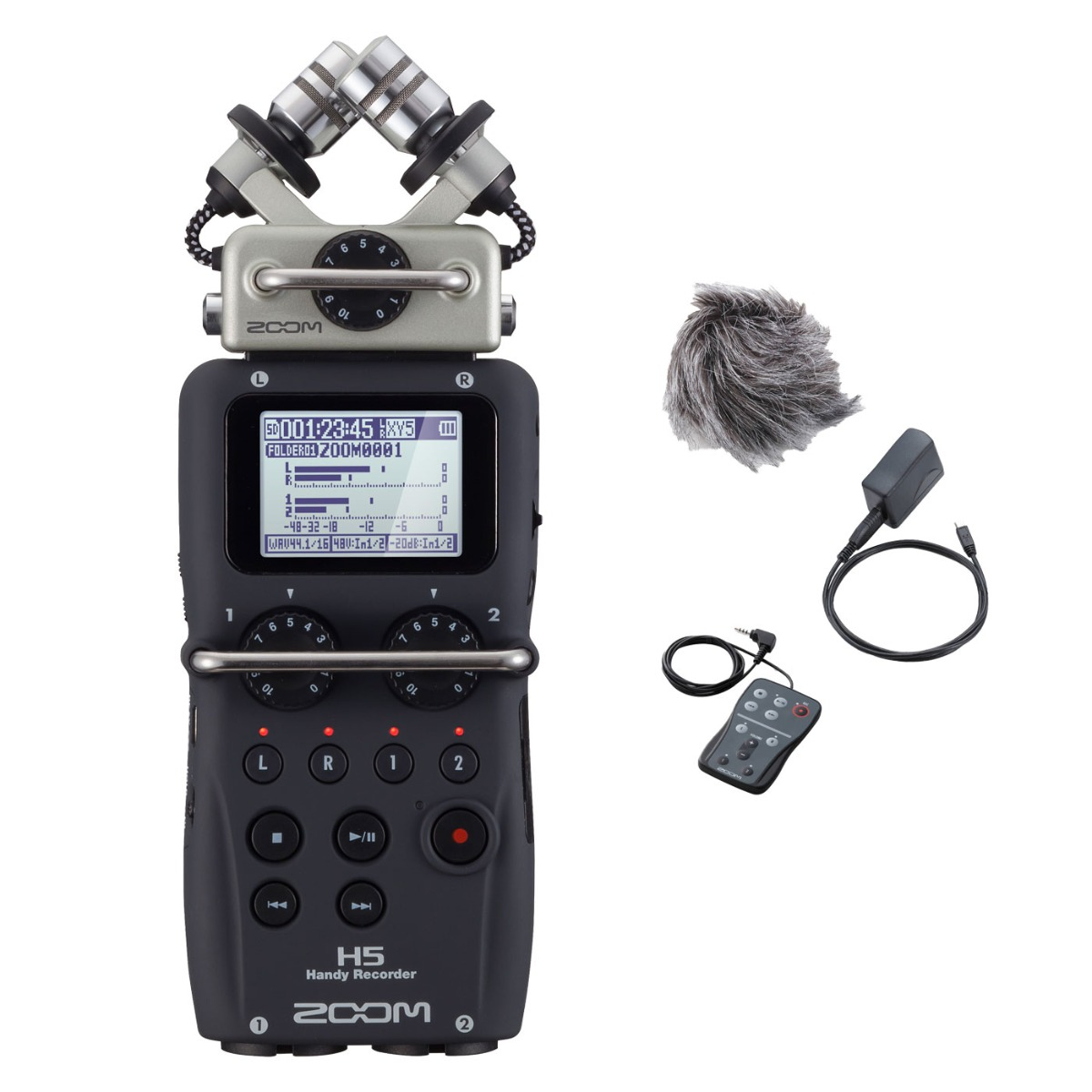 Zoom H5 handy audio recorder + tilbehør