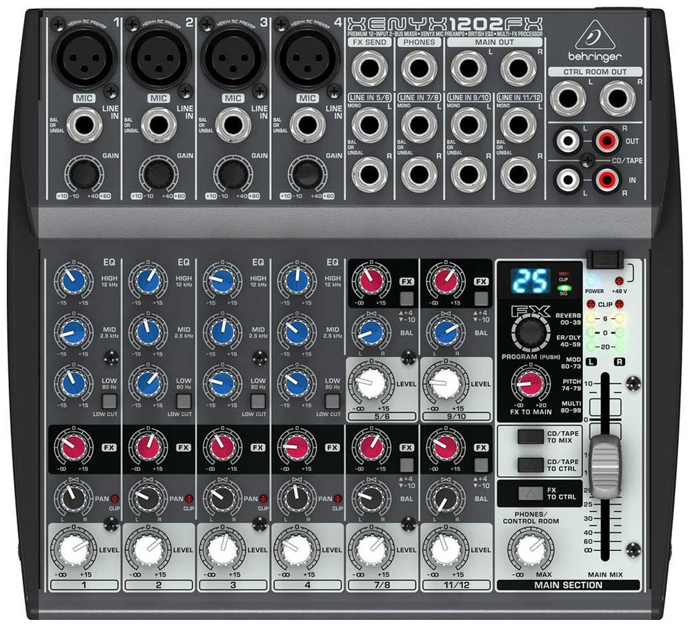 Billede af Behringer Xenyx1202FX mixer