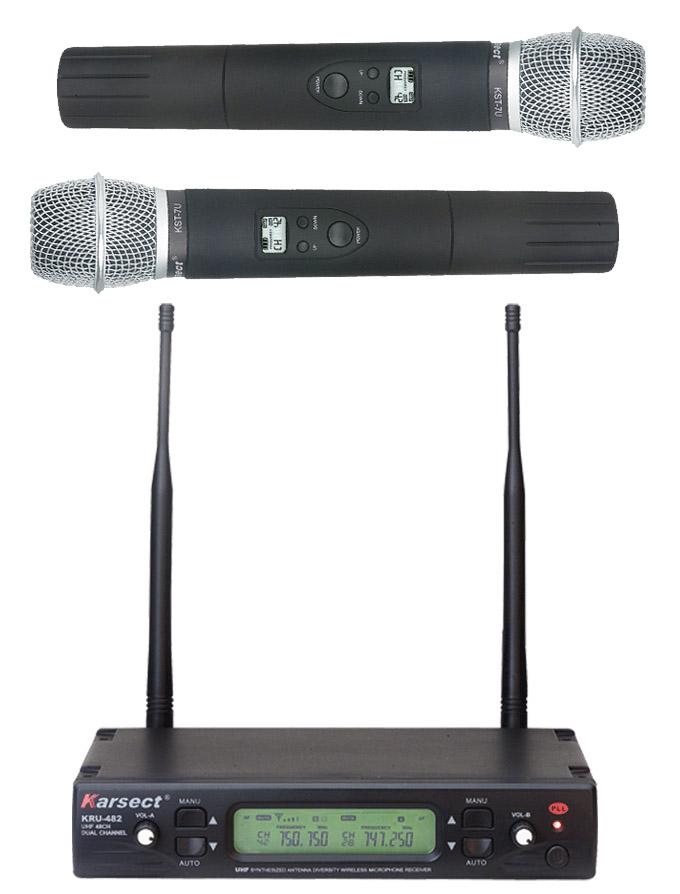 Karsect KRU-482KST7U trådløst2xhåndholdtmikrofon-sæt