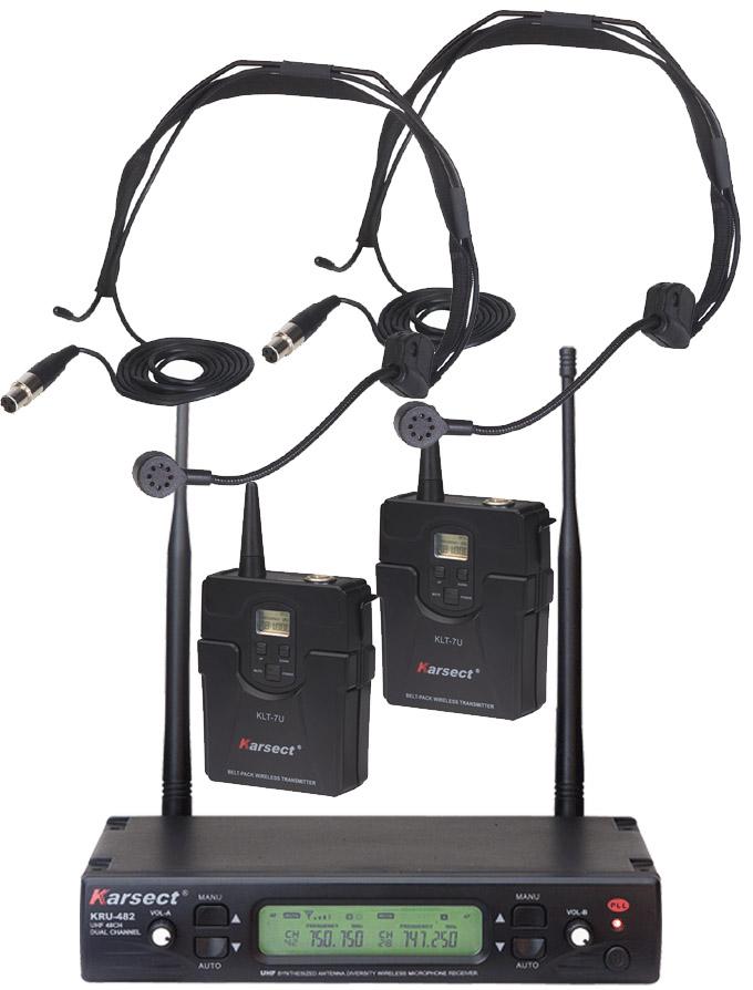 Billede af Karsect KRU-482KLT7U-HT1C trådløs2xheadset-mikrofon