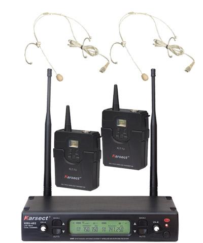 Karsect KRU-482KLT7U-HT3C trådløs2xtyndheadset-mikrofon