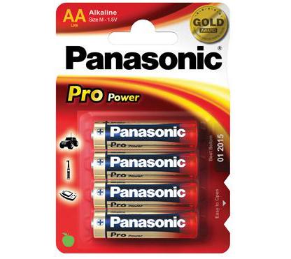 Panasonic ProPowerAlkalineAA batterier(4stk.)