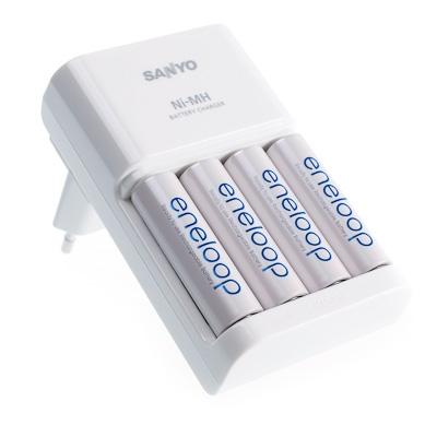 Sanyo MQR06-E-4-3UTG lynladerinkl.4stk.AA-batterier