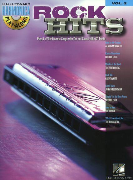 Image of   HarmonicaPlay-Along:RockHits lærebog