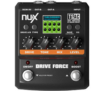Nux DriveForce multi-distortionguitar-pedal