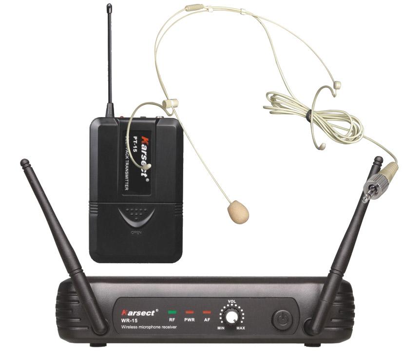 Billede af Karsect WR-15PT15-HT3A trådløsttyndtheadset-mikrofon-sæt