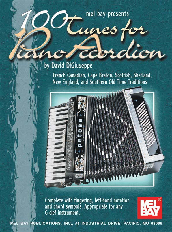 Image of 100TunesforPianoAccordion lærebog