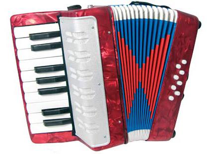 Beckett STP104 børne-harmonika rød