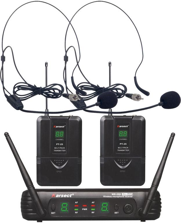 Billede af Karsect WR-25DPT25-HT9A trådløst2xheadset-mikrofon-sæt