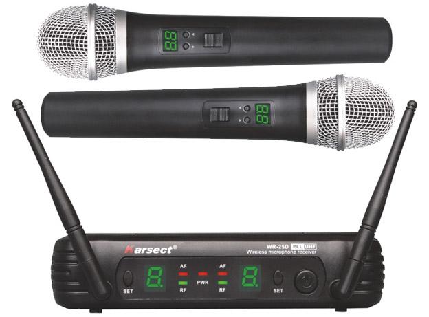 Billede af Karsect WR-25DHT25 trådløst2xhåndholdtmikrofon-sæt
