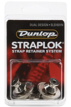 Dunlop StraplokDualDesignSLS1031N guitar-remlås krom