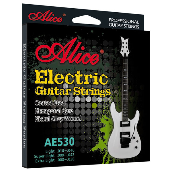 Image of   Alice AE530-SLPro el-guitar-strenge,nikkel,superlight