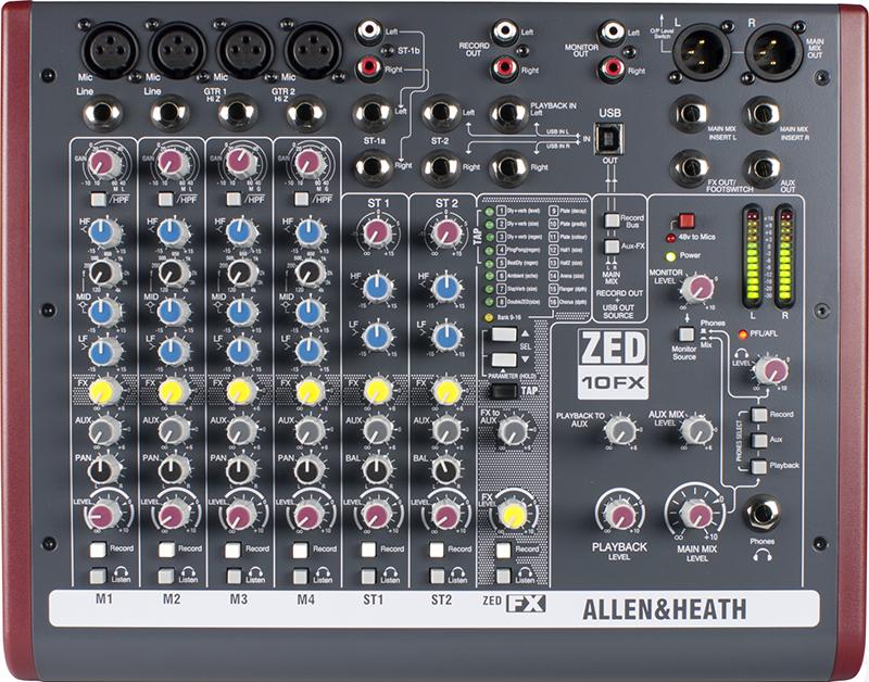 Image of   Allen&Heath ZED-10FX mixer
