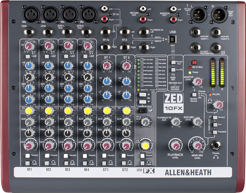 Billede af Allen&Heath ZED-10FX mixer