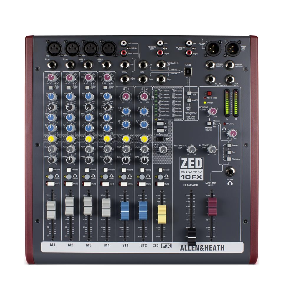 Billede af Allen&Heath ZED60-10FX mixer