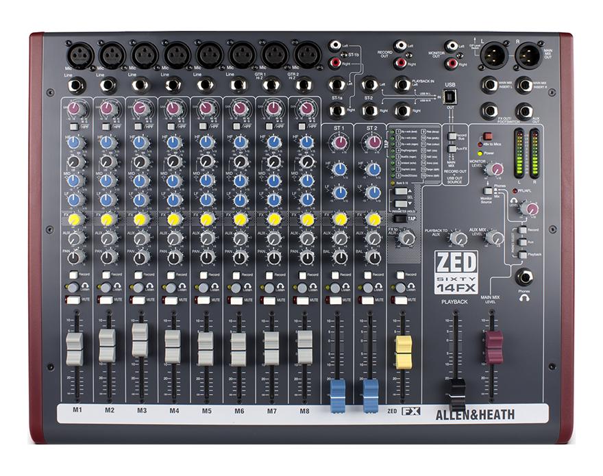 Billede af Allen&Heath ZED60-14FX mixer