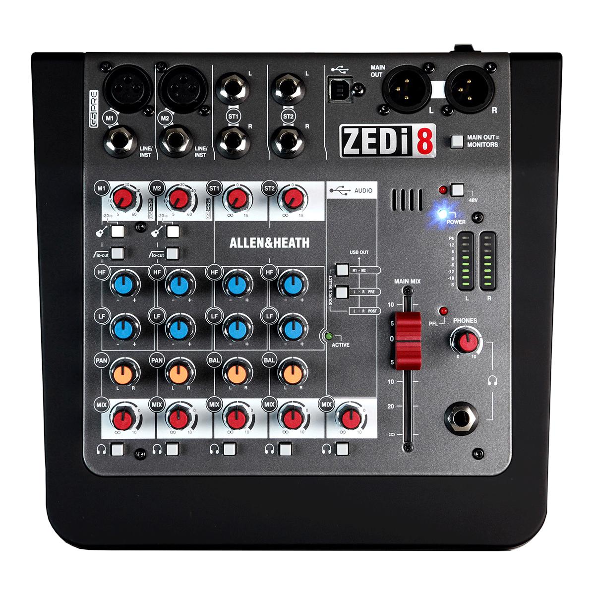 Billede af Allen&Heath ZEDi-8 mixer