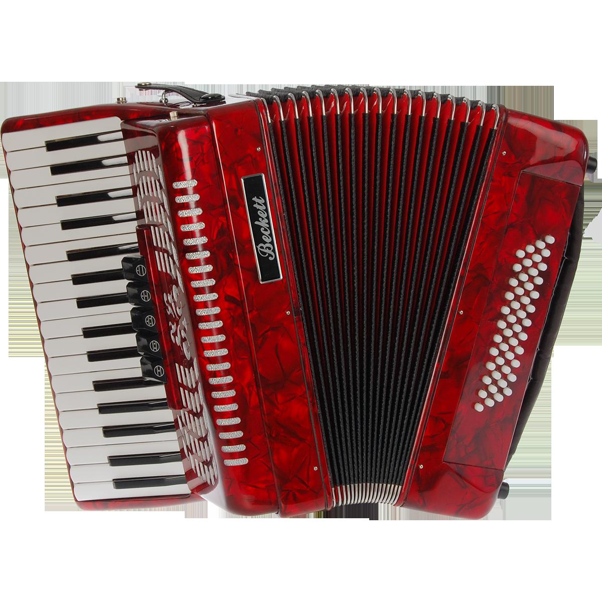Billede af Beckett JH2005 piano-harmonika rød