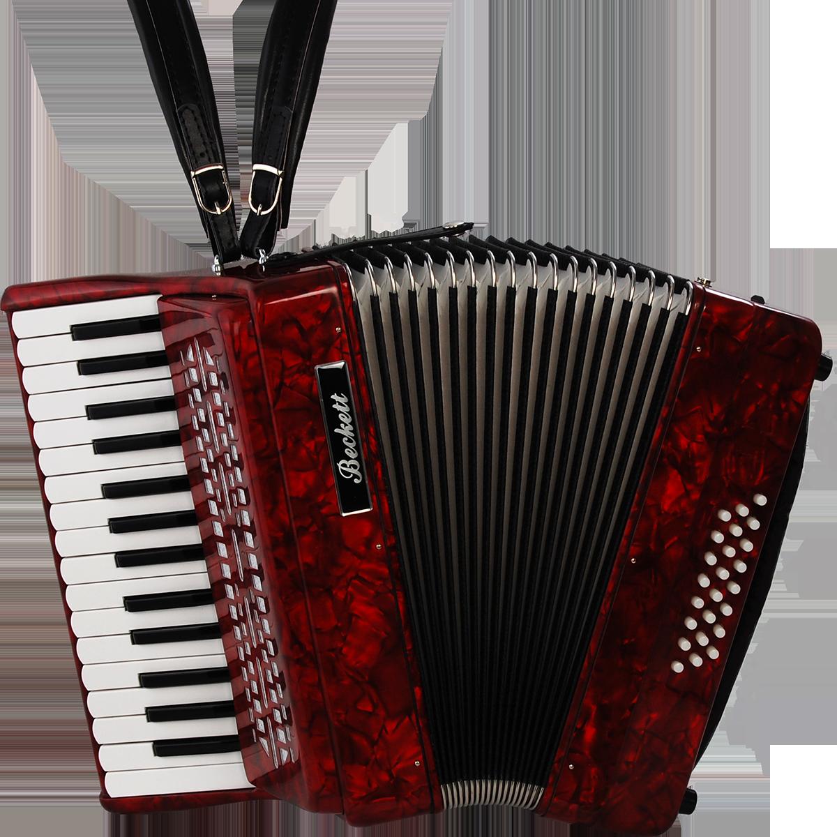 Billede af Beckett JH2024 piano-harmonika rød