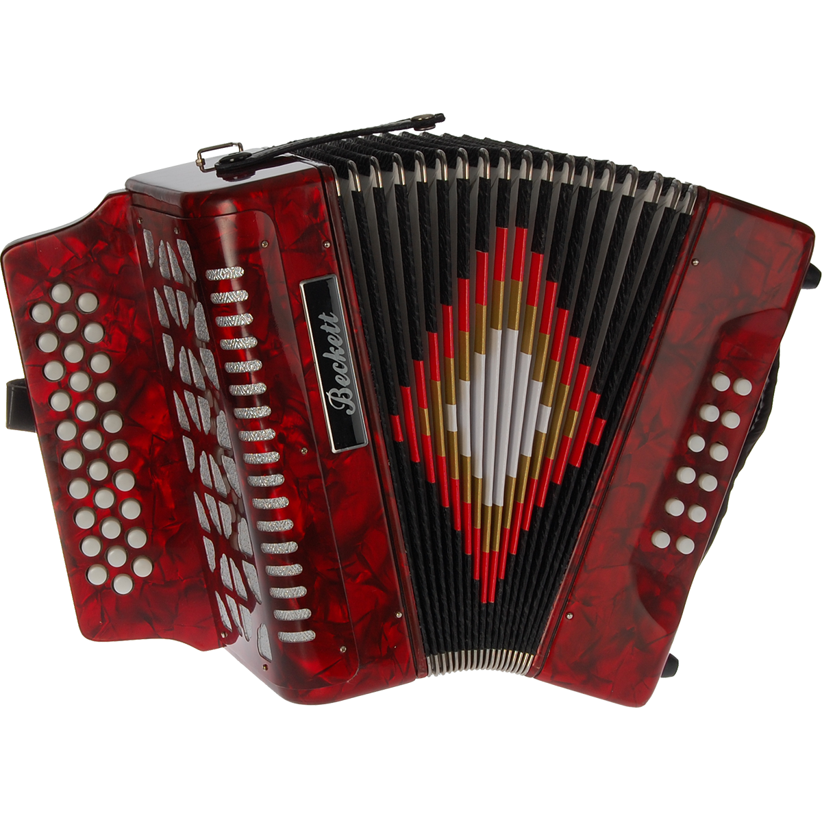 Billede af Beckett JH3112 knap-harmonika rød