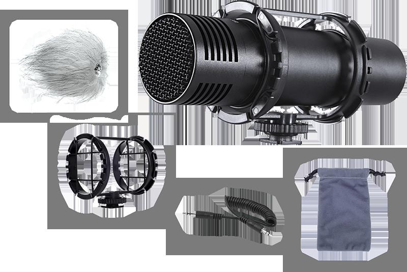 Billede af Boya BY-VM300PS stereo-kamera-mikrofon