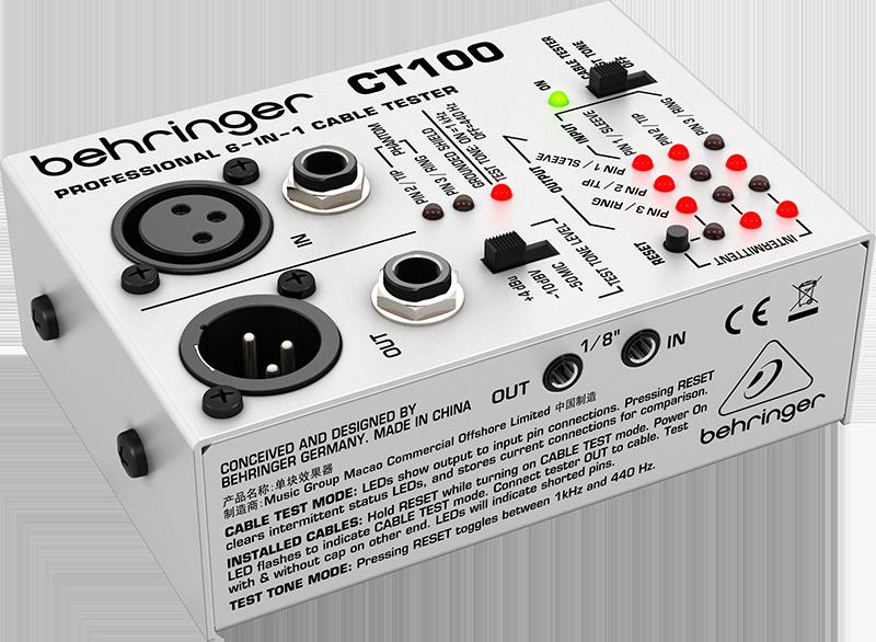 Billede af Behringer CT100 kabeltester