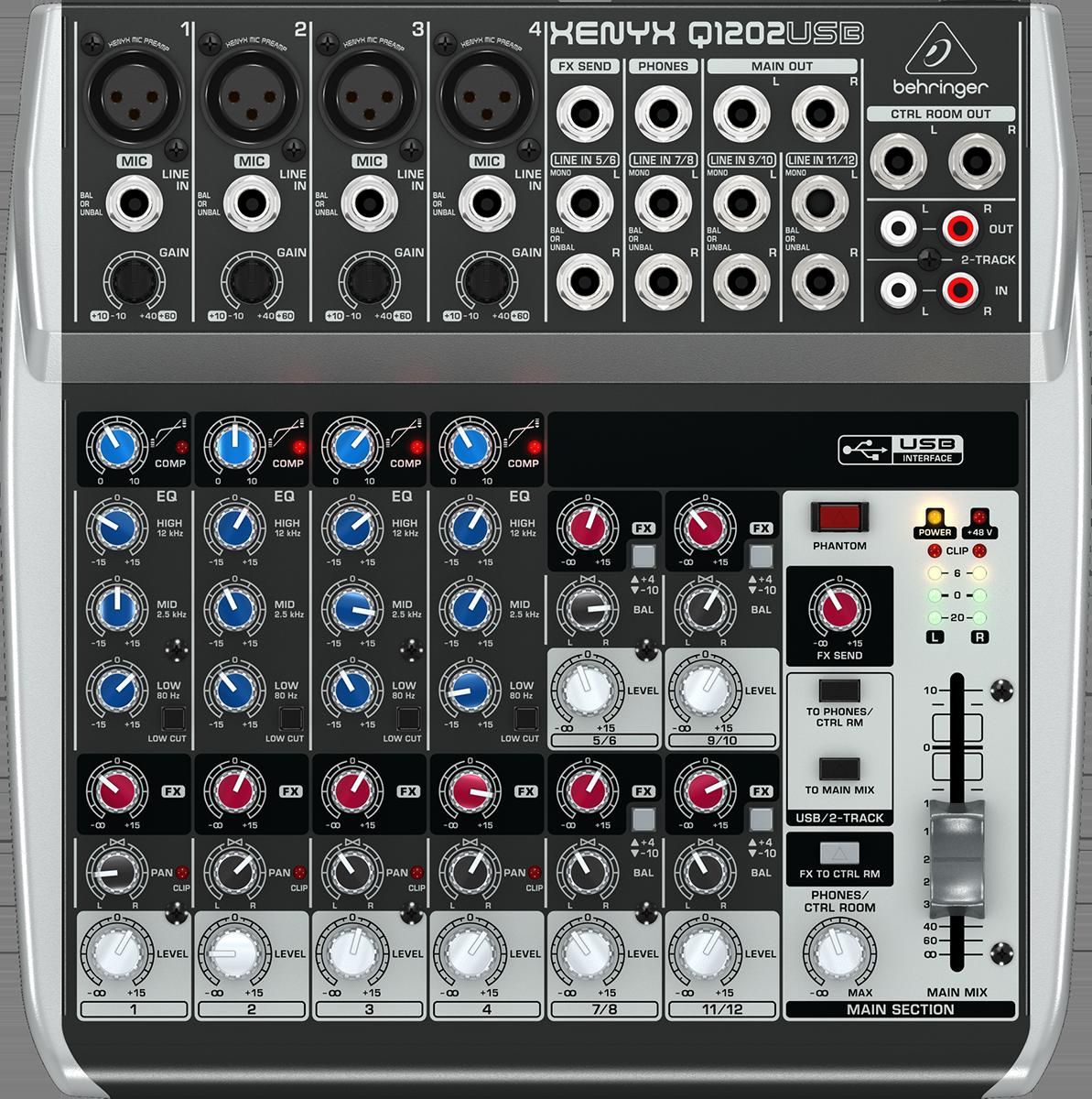 Billede af Behringer XenyxQ1202USB mixer