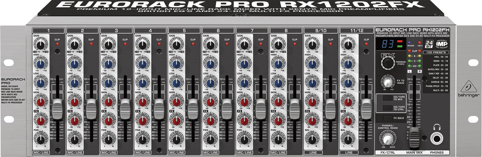 Billede af Behringer RX1202FXEurorackPro mixer