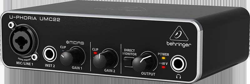 Billede af Behringer UMC22U-Phoria audiointerface