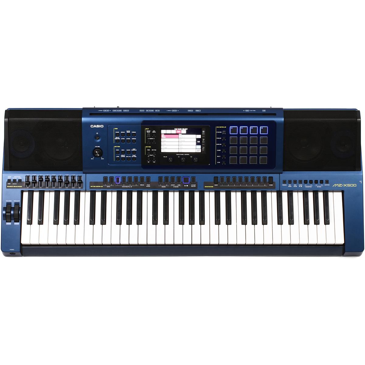 Image of   Casio MZ-X500 keyboard metallicblue