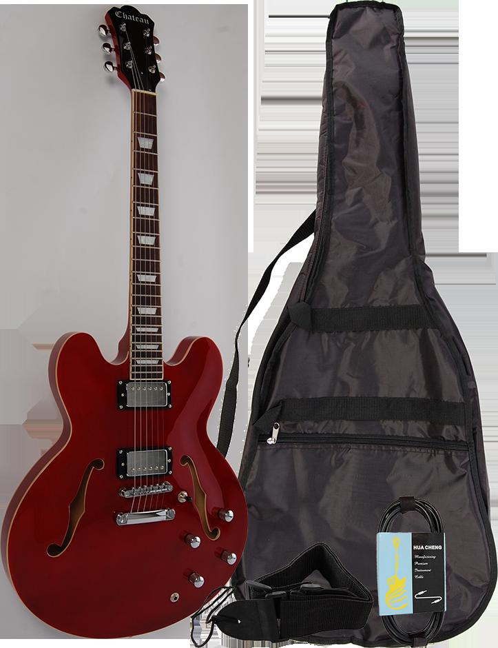 Billede af Chateau C08-JG1-WR el-guitar rød