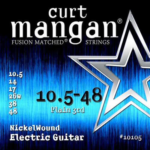 Image of   CurtMangan 10105NickelWound el-guitarstrenge0105-048