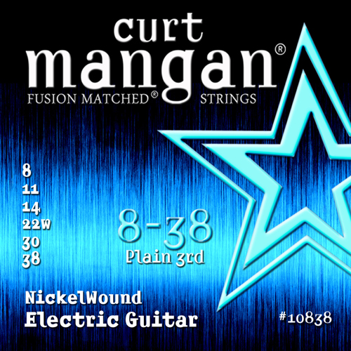 Image of   CurtMangan 10838NickelWound el-guitarstrenge008-038