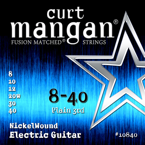 Image of   CurtMangan 10840NickelWound el-guitarstrenge008-040