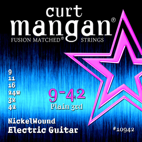 Image of   Curt Mangan 10942NickelWound el-guitarstrenge009-042