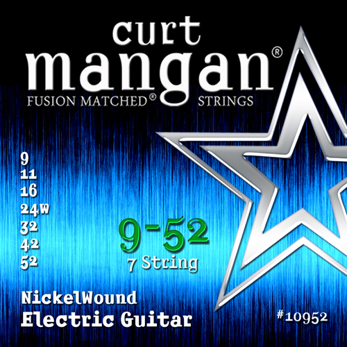 Image of   CurtMangan 10952NickelWound 7-strengetel-guitarstrenge009-052