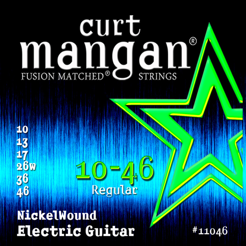 Image of   CurtMangan 11046NickelWound el-guitarstrenge010-046