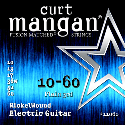 Image of   CurtMangan 11060NickelWound el-guitarstrenge010-060