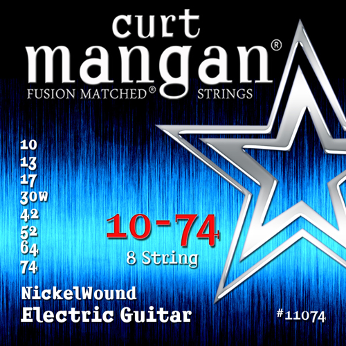 Image of   CurtMangan 11074NickelWound 8-strengetel-guitarstrenge010-074