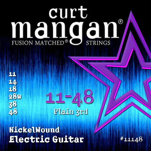 Image of   CurtMangan 11148NickelWound el-guitarstrenge011-048