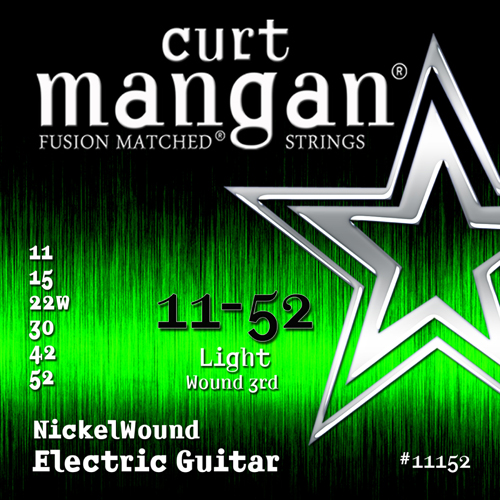 Image of   CurtMangan 11152NickelWound el-guitarstrenge011-052