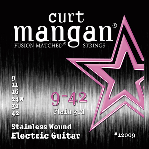 Image of   CurtMangan 12009StainlessWound el-guitarstrenge009-042