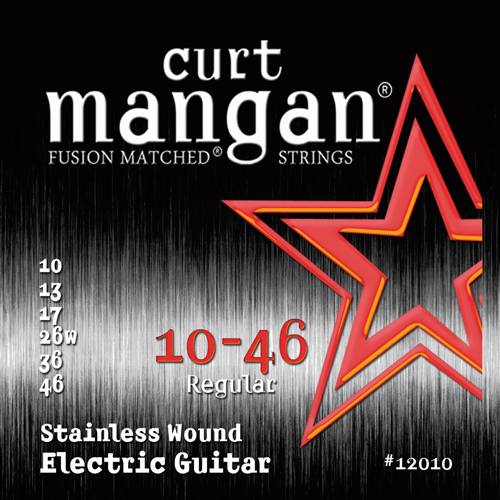 Image of   CurtMangan 12010StainlessWound el-guitarstrenge010-046