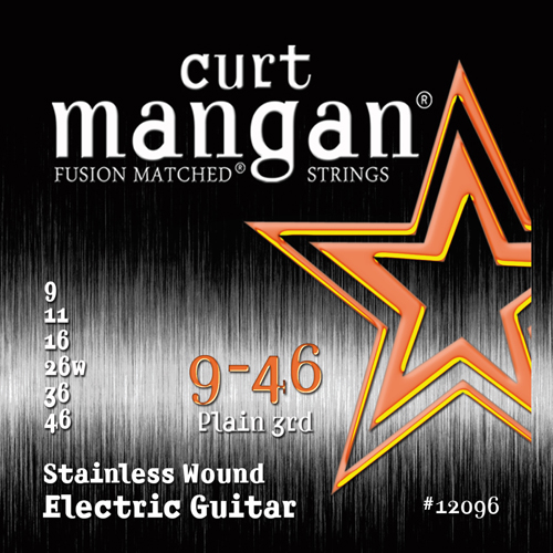 Image of   CurtMangan 12096StainlessWound el-guitarstrenge009-046