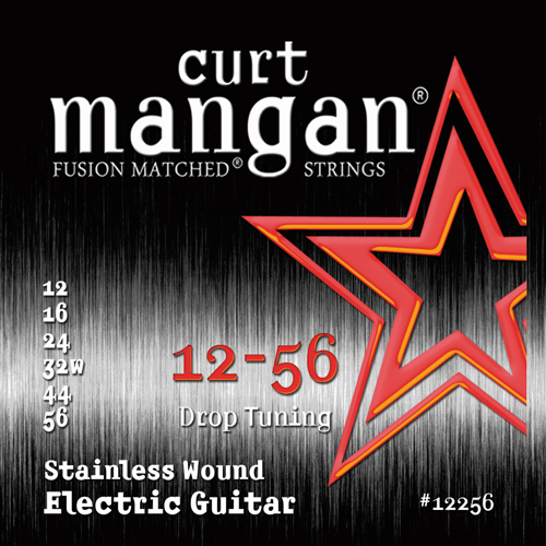 Image of   CurtMangan 12256StainlessWound el-guitarstrenge012-056