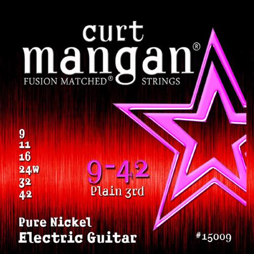 Billede af CurtMangan 15009PureNickel el-guitarstrenge009-042