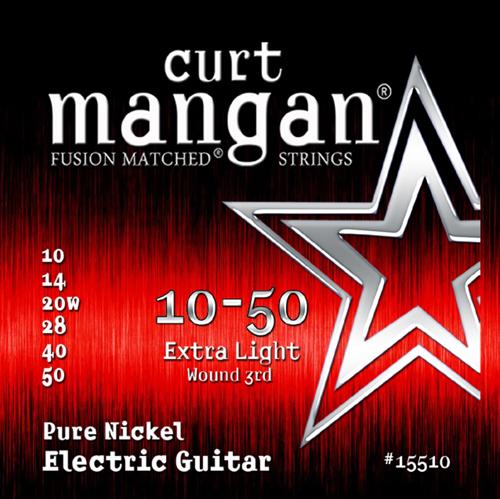 Billede af CurtMangan 15510PureNickel el-guitarstrenge010-050