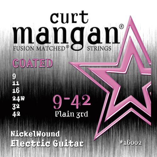 Image of   CurtMangan 16002CoatedNickelWound el-guitarstrenge009-042