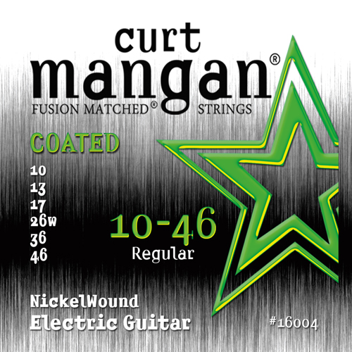 Image of   CurtMangan 16004CoatedNickelWound el-guitarstrenge010-046