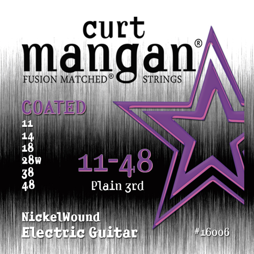 Image of   CurtMangan 16006CoatedNickelWound el-guitarstrenge011-048